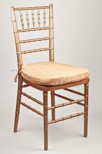 Gold Crinkle Taffeta Chair Pad Cover