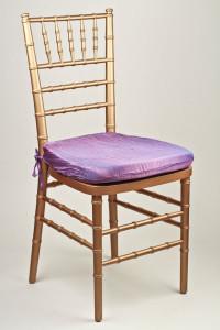 Lavender Crinkle Taffeta Chair Pad Cover