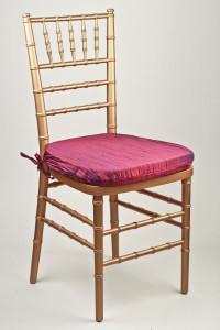 Magenta Crinkle Taffeta Chair Pad Cover
