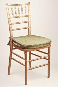 Moss Crinkle Taffeta Chair Pad Cover
