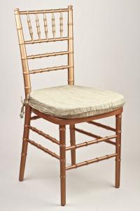 Mushroom Crinkle Taffeta Chair Pad Cover