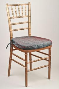 Peacock Crinkle Taffeta Chair Pad Cover