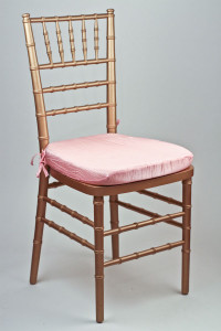 Pink Crinkle Taffeta Chair Pad Cover