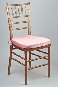 Pink Crinkle Taffeta Chair Pad Cover