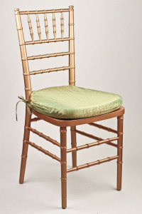 Pistachio Crinkle Taffeta Chair Pad Cover