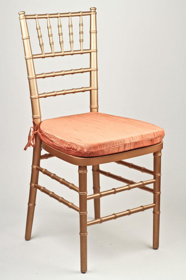 Pumpkin Crinkle Taffeta Chair Pad Cover