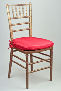 Red Crinkle Taffeta Chair Pad Cover