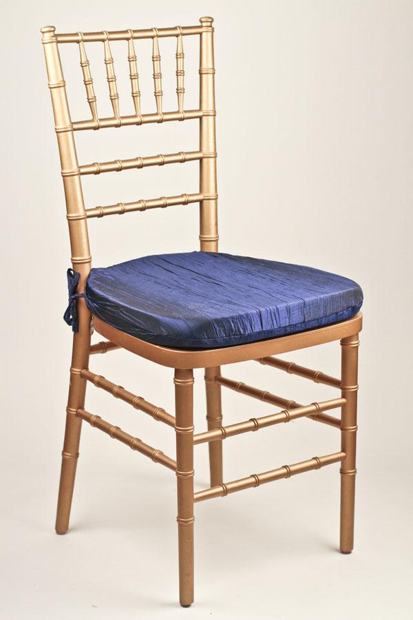 Royal Crinkle Taffeta Chair Pad Cover Royal Crinkle Taffeta Chair Pad Cover