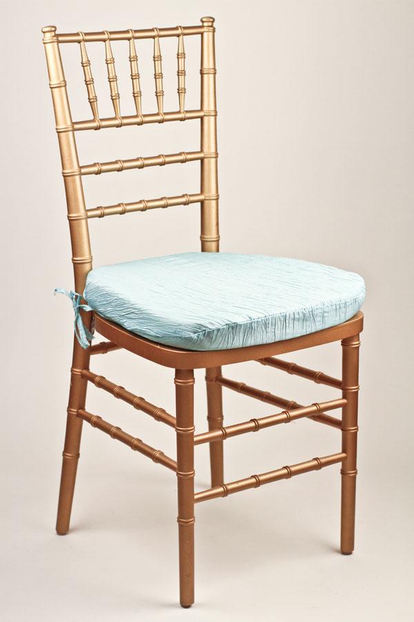 Seabreeze Crinkle Taffeta Chair Pad Cover