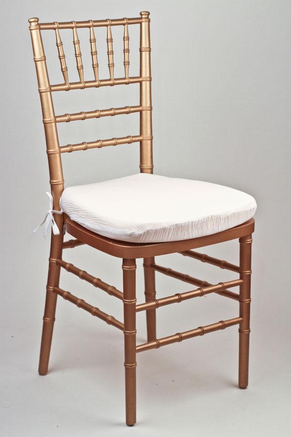 White Crinkle Taffeta Chair Pad Cover
