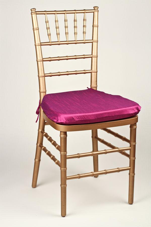Purple Poly Dupioni Chair Pad Cover