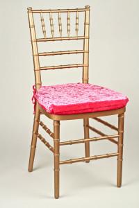 Hot Pink Velvet Chair Pad Cover