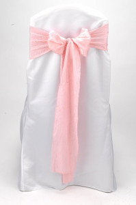 Bubble Gum Crushed Shimmer Tie