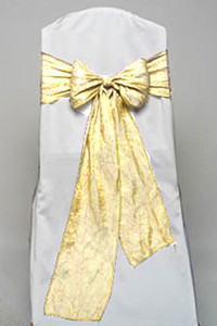 Buttercup Crushed Taffeta Tie