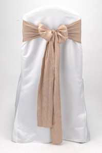 Champagne Crushed Shimmer Tie