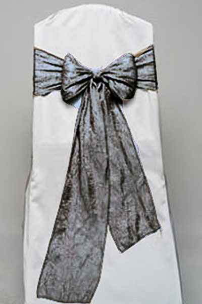 Charcoal Crushed Shimmer Tie