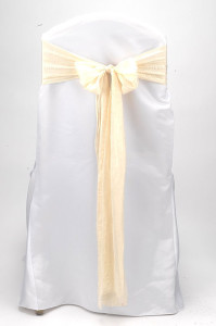 Ivory Shimmer Tie