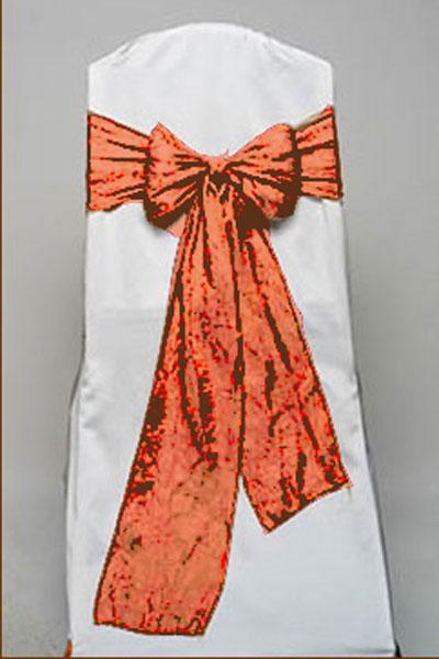 Orange Gold Crushed Shimmer Tie