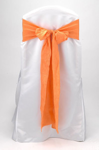 Tangerine Crushed Shimmer Tie