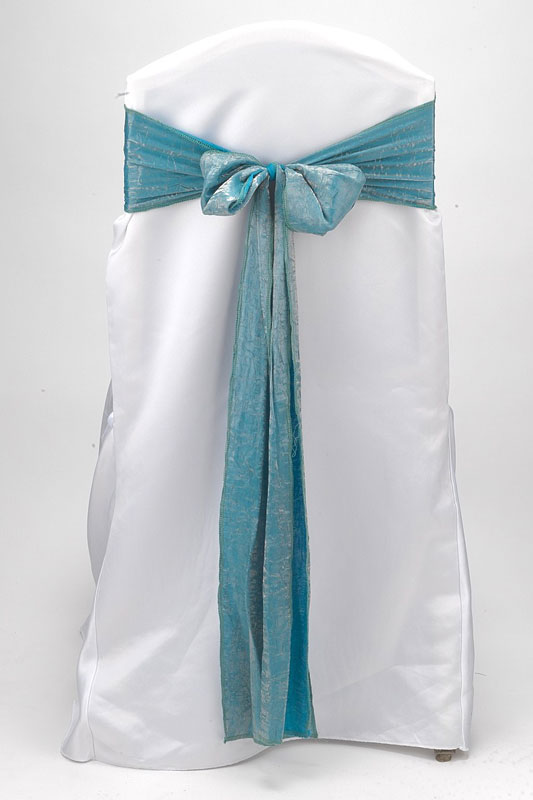 Turquoise Crushed Shimmer Tie
