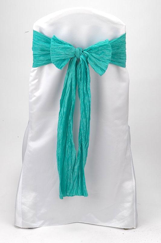 Aqua Marine Crinkle Taffeta Tie