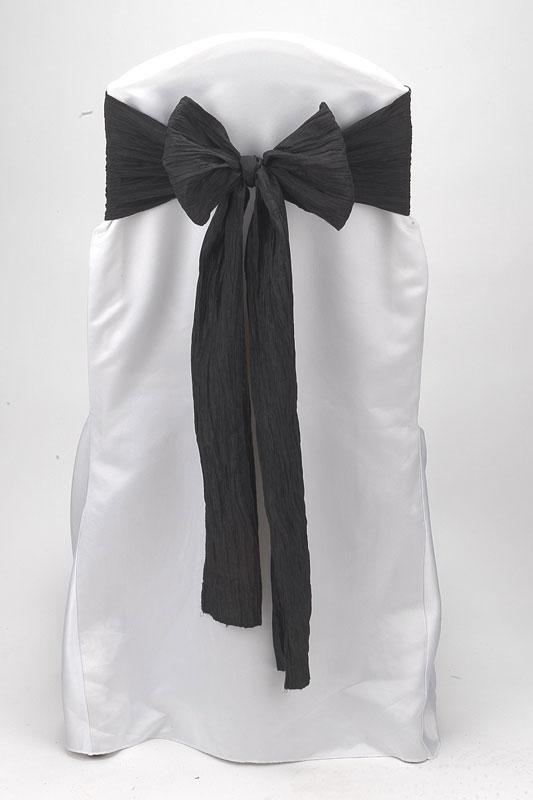Black Crinkle Taffeta Tie
