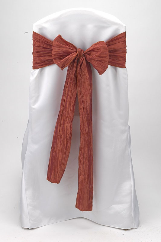 Burnt Clay Crinkle Taffeta Tie