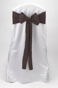 Chocolate Crinkle Taffeta Tie