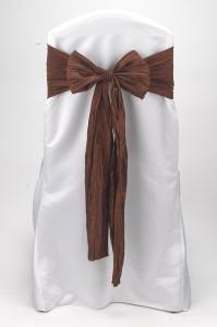 Cinnamon Crinkle Taffeta Tie