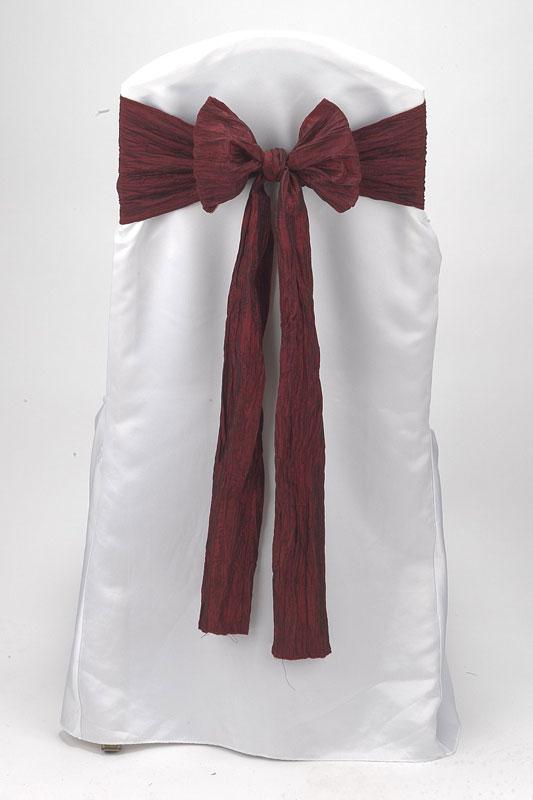 Cranberry Crinkle Taffeta Tie