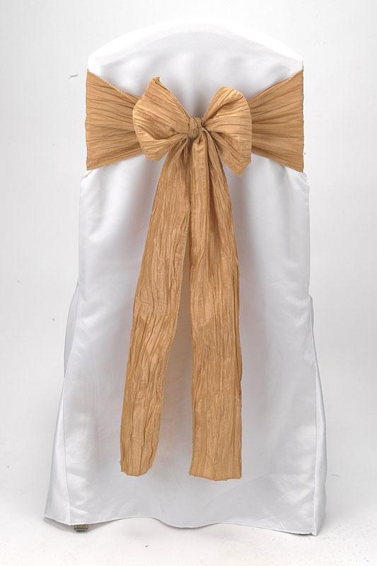 Gold Crinkle Taffeta Tie