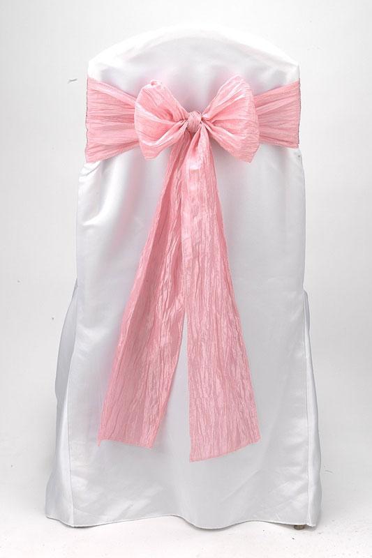 Pink Crinkle Taffeta Tie