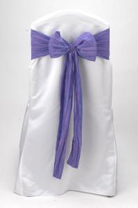 Wysteria Lilac Crinkle Taffeta Tie