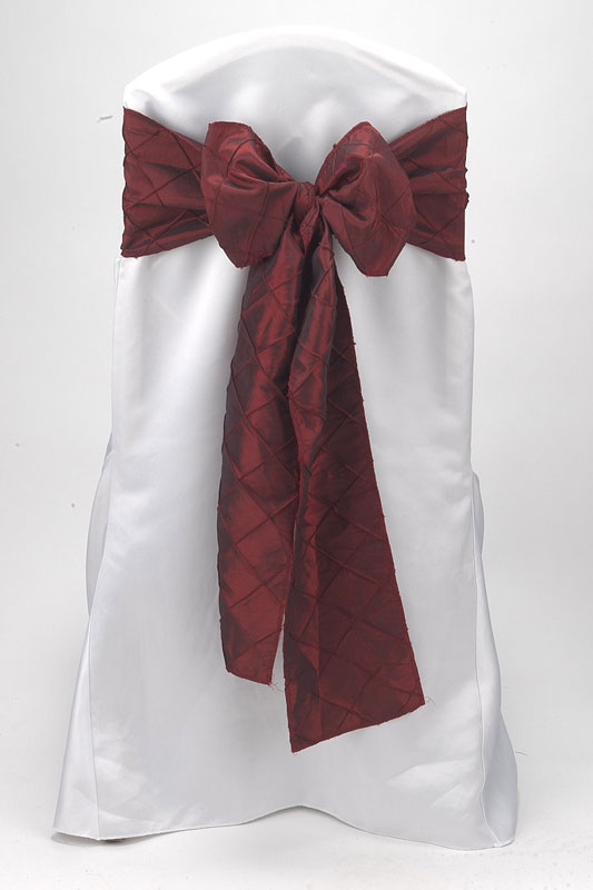 Cabernet Pintuck Tie