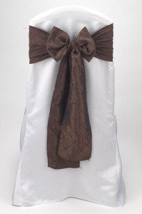 Chocolate Pintuck Tie