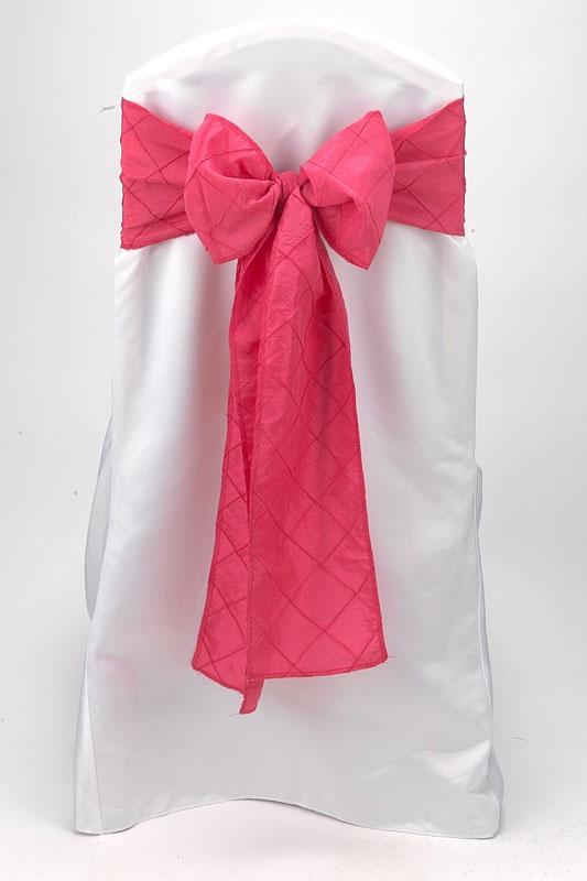 Fuchsia Pintuck Tie