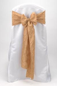 Gold Pintuck Tie