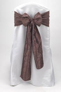 Mocha Pintuck Tie
