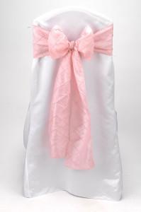 Pink Pintuck Tie