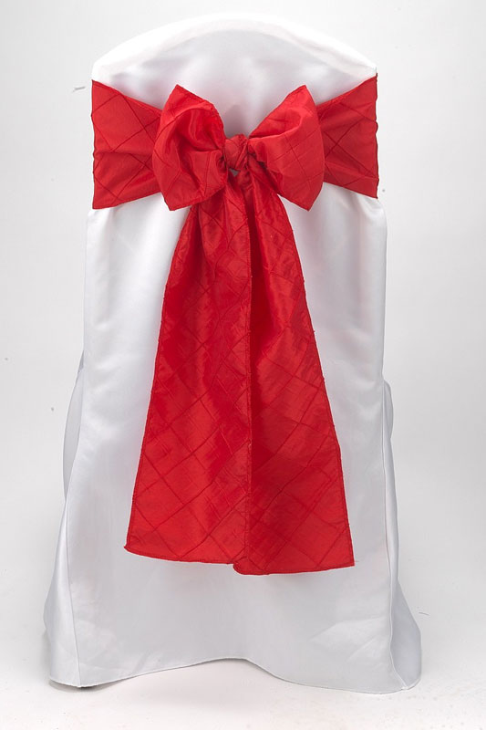 Red Pintuck Tie