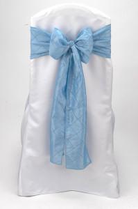 Sky Blue Pintuck Tie