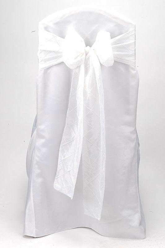 White Pintuck Tie