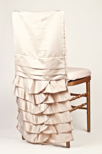 Champagne Lamour Gathered Chair Back