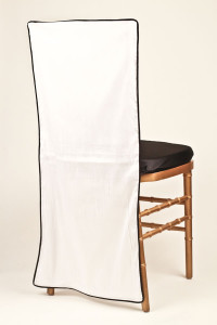 White & Black Piping Chair Back