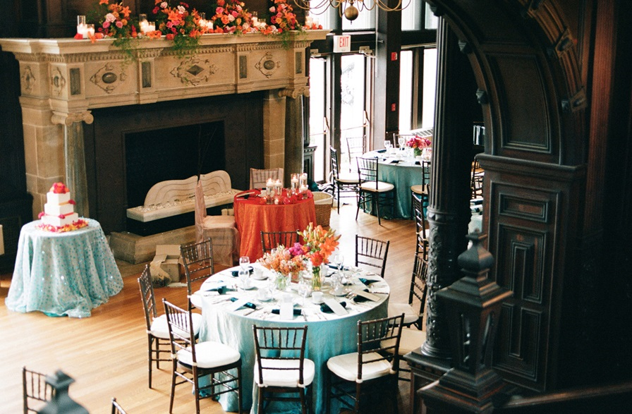 Seabreeze Crinkle Taffeta Table Linen Rental Tablecloth
