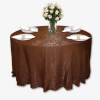 Chocolate Crushed Shimmer Linen Rentals