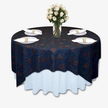 Denim Amp Diamond Copper Table Linen