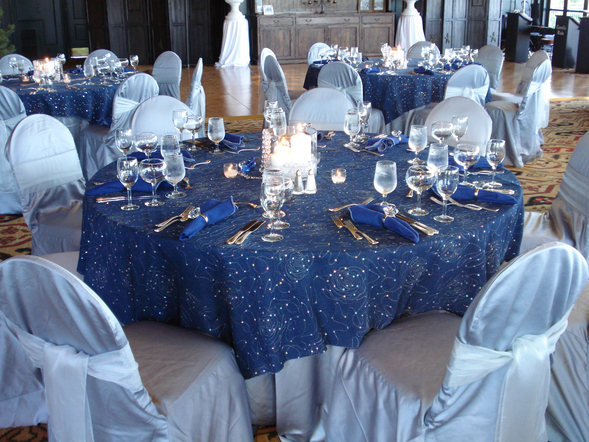 Pewter Lamour Chair Cover