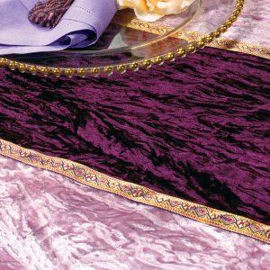 Aubergine Lilac Stripe Velvet