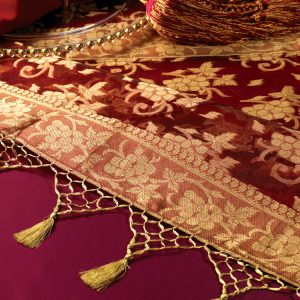 Bordeaux Silk with Gold Tassels